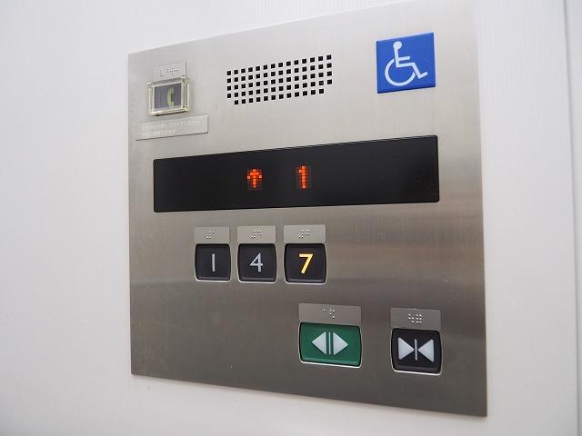 前野町ハイツ1号棟エレベーター停止階